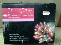 80 multi action coloured lights