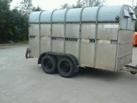 Richerson live stock trailer 12x6 no vat ( like ifor williams)