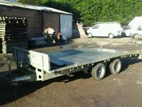 Ifor williams beaver taile trailer 14x6.6 with ramps no vat