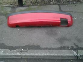 Vauxhall corsa b rear bumper in red this is only the outer shell 10 pounds