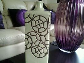 John Lewis vase handmade about 15 inches lovely