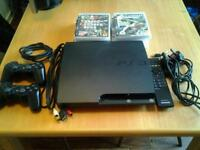 Sony Play Station 3 all cables 2 controllers plus 8 games.
