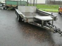 Ifor williams plant trailer 10x 6 no vat