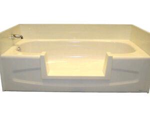 Walk-In Bath Tub Shower Easy Step-Through Insert - Do It Yourself Conversion Kit