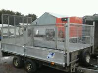 Ifor williams dropside trailer with mesh sides and rear ramp 12x6.6 no vat