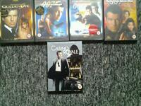 Job lot of James Bond movies, pristine condition.