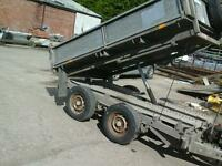 Ifor william tipping trailer 8x5 with alloy ramps no vat