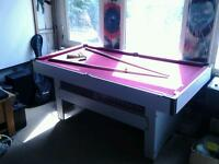 6ft×3ft pool table