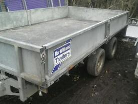 Ifor wiiliam s drop side trailer 12x6.6