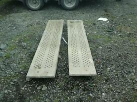Ifor williams galvanised trailer ramps 6 ft no vat