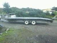 Beatson beaver tail car transport trailer 16x6.6 with ramps and winch noi vat