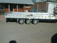 Ifor williams brainjames indepenson tri aixl trailer 18x7 with winch