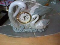 Mercedes swan wind up clock