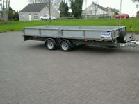 Ifor Williams dropside trailer 16x6.6 year 2016 no vat