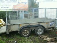 Ifor williams plant trailer 10x5.6 with mesh sides noo vat