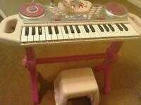 Toy Light-Up Keyboard & Stool, Live Mike and Recording.