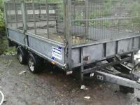 Ifor williams drop side trailer 12x6.6 with meash sides with rear ramp no vat