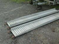 Alloy trailer ramps 9 ft heavey duty no vat