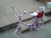 Girls barbie cycle for ages 6 to 8