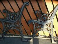 Cast iron summer seat and table ends