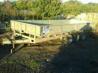 Ifor williams tri aixl trailer 16x6.6 no vat