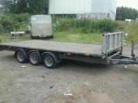 Ifor williams fat bed tri aixl trailer 16x7.6 no vat