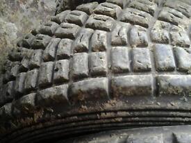 Chunky grass tyres jalopy