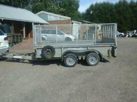 Ifor williams plant trailer 10x5.6 with mesh sides no vat