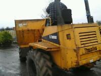 Thwaites 6 ton artic ster dumper no vat