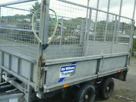Ifor williams dropside trsiler with mesh sides and rear ramp 8x5 no vat