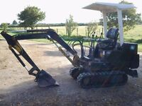 Mini Digger for sale. 1.5t Komatsu PC-07 and optional Ifor Williams plant trailer.