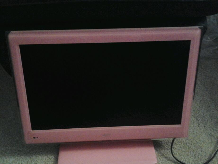 bush 19 pink tv dvd combi in sedgefield county durham gumtree. Black Bedroom Furniture Sets. Home Design Ideas