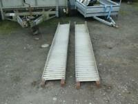 Heavy duty alloy trailer ramps 9 ft no vat