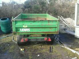 Lewis farm tipping trailer 7x5 with hock eye no vat