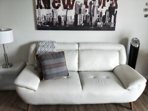 Faux Leather Loveseat For Sale
