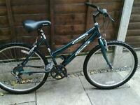 LADIES EMMELLE ECLIPSE, ,MOUNTAIN BIKE, 26, ALLOY WHEELS, GOOD TYRES,