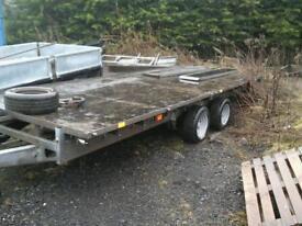 Ifor williams flat bed trailer 16x6. 6 no vat