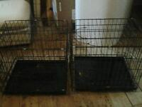 2 small dog cages damaged but repairable need space £12 each or the 2 £20