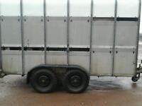 Ifor williams cattle trailer 12x6 with sheep decks no vat