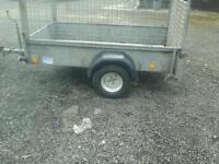Ifor williams p 6 e trailer with mesh sides and floatation tyres no vat