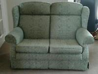 PARKER KNOLL 2 SEATER SOFA/COUCHES X2