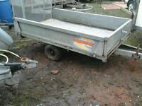 Beatson dropside quad trailer 8x4 no vat