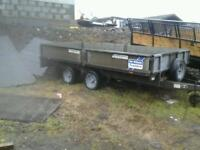 Ifor williams dropside trailer 12x5.6 no vat