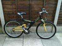 BARBICAN VORTEC, MOUNTAIN BIKE, FULL SUSPENSION,