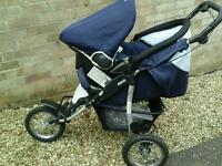3 Wheeler buggy and car seat for sale