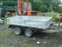 Ifor williams dropside trailer view 8x5 no vat