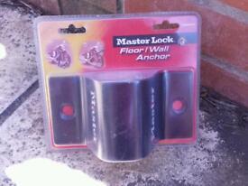 Masterlock floor /wall anchor still in box