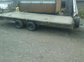 Ifor Williams trailer 16x6.6 with electric winch and ramps no vat
