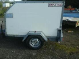 Tow van box van trailer 6x4 no vat