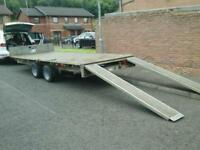 Ifor williams flat bed car tranporter ,16x6.6 with electric winch no vat
